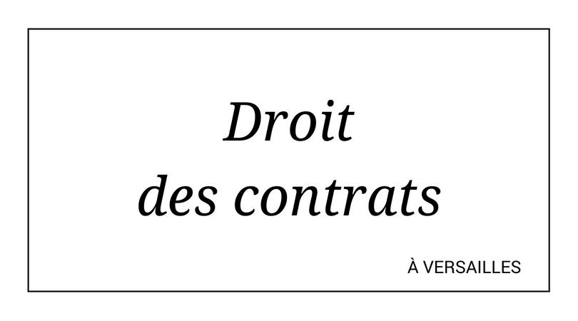 droit des contrats versailles